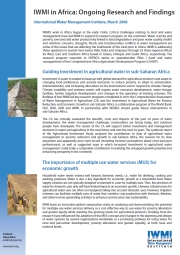IWMI in Africa: Ongoing Research and Findings
